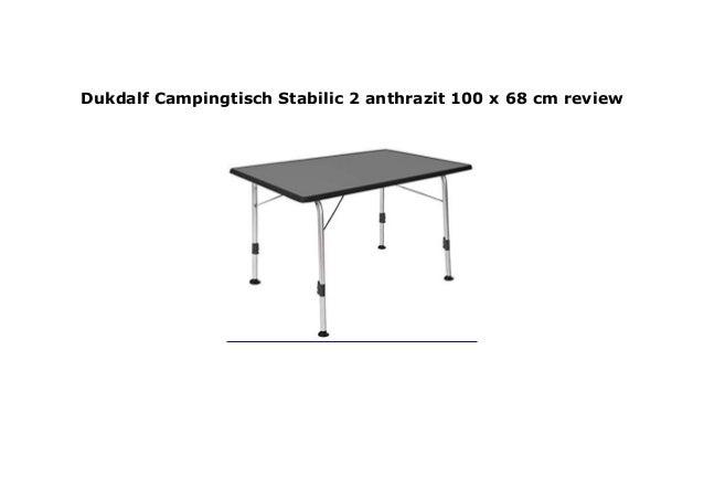 Campingtisch 100.Dukdalf Campingtisch Stabilic 2 Anthrazit 100 X 68 Cm Review