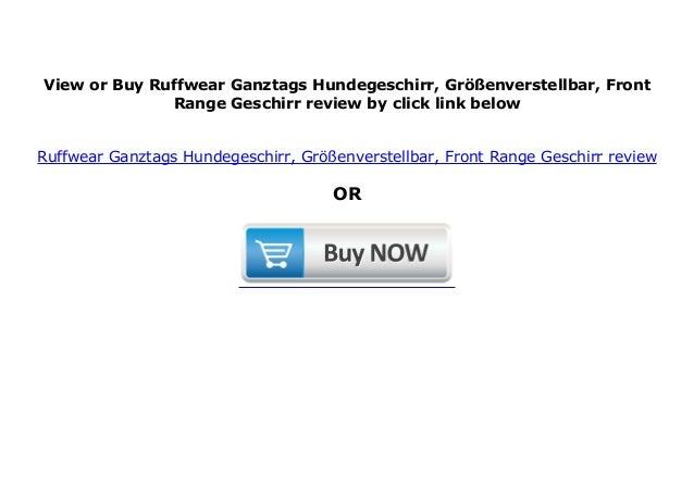 Ruffwear Ganztags-Hundegeschirr Gr/ö/ßenverstellbar Front Range Geschirr