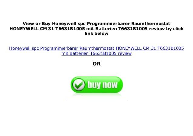 Programmierbarer Raumthermostat Honeywell spc HONEYWELL CM 31 T6631B1005 mit Batterien : T6631B1005