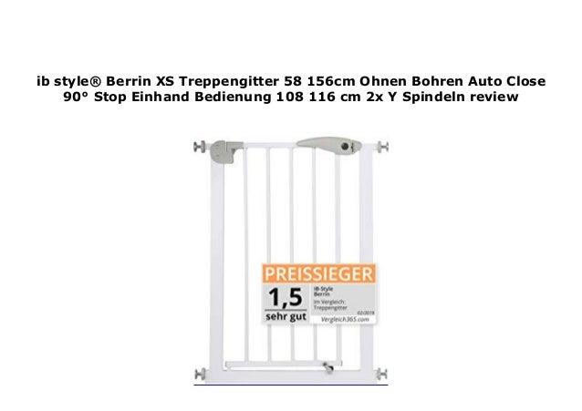 ib style/® Berrin XS Treppengitter 58-156cm |T/ürschutzgitter Haustiergitter Ohne Bohren Auto-Close| 90/° Stop