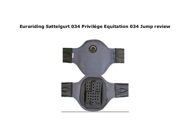 Euroriding Sattelgurt Privilege Equitation Jumping