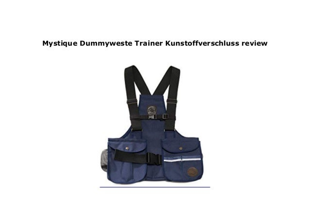 Mystique Dummyweste Trainer Kunstoffverschluss