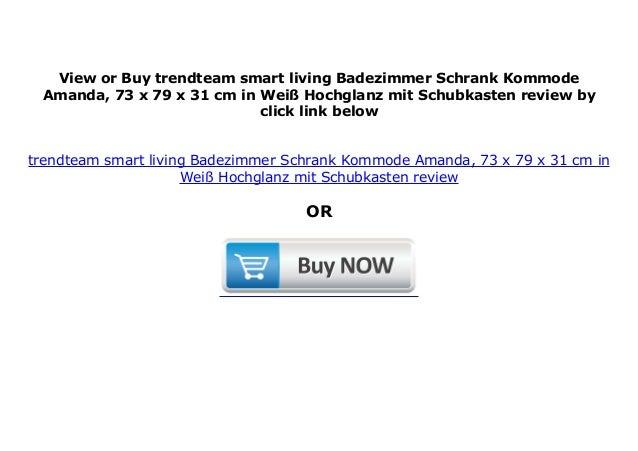 73 X 79 X 31 Cm In Wei Trendteam Smart Living Badezimmer Schrank Kommode Amanda