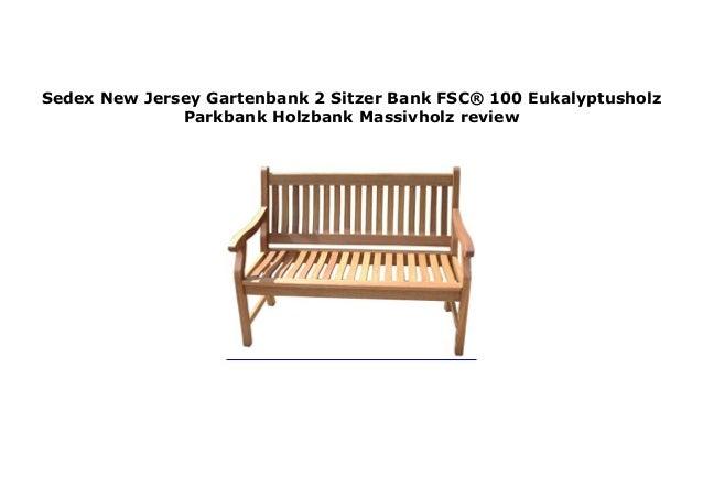Bank NEW JERSEY aus Eukalyptusholu 2 Sitzer wei/ß