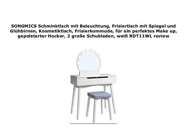 Songmics Schminktisch Mit Beleuchtung Frisiertisch Mit Spiegel Und G
