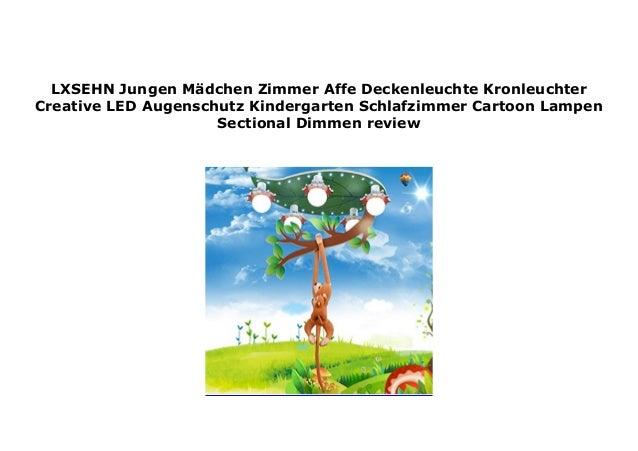 Jungen M/ädchen Zimmer AFFE Deckenleuchte Kronleuchter Creative LED Augenschutz Kindergarten Schlafzimmer Cartoon Lampen Sectional Dimmen Karikatur,Braun,67/×40cm35w