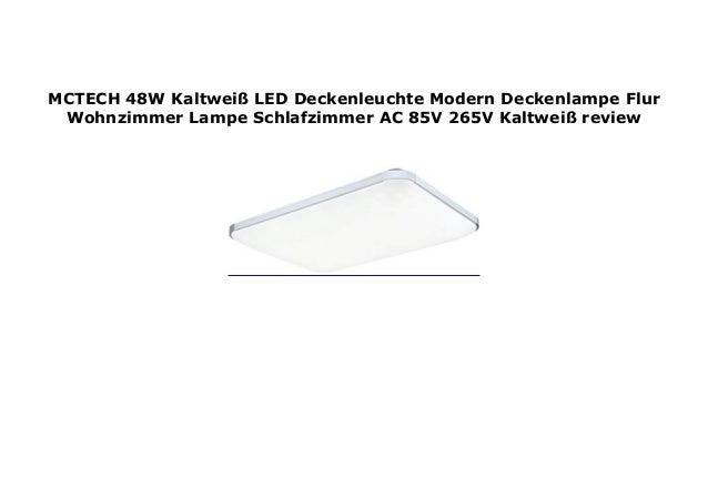 MCTECH 48W Kaltwei  LED Deckenleuchte Modern Deckenlampe ...