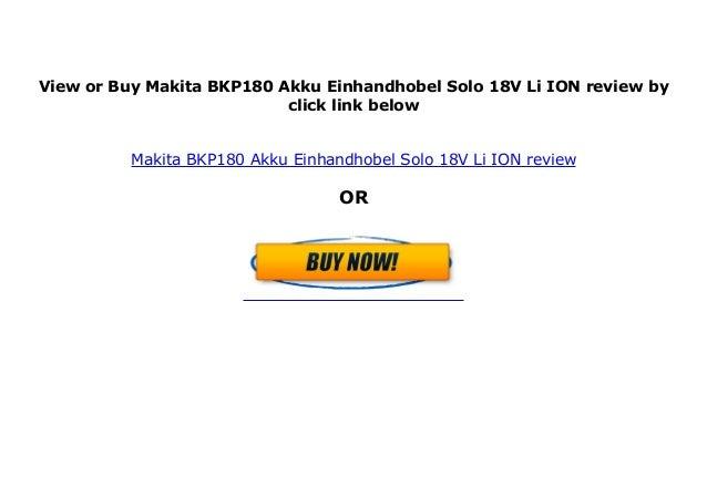 Makita BKP180 Akku Einhandhobel Solo 18V Li-ION