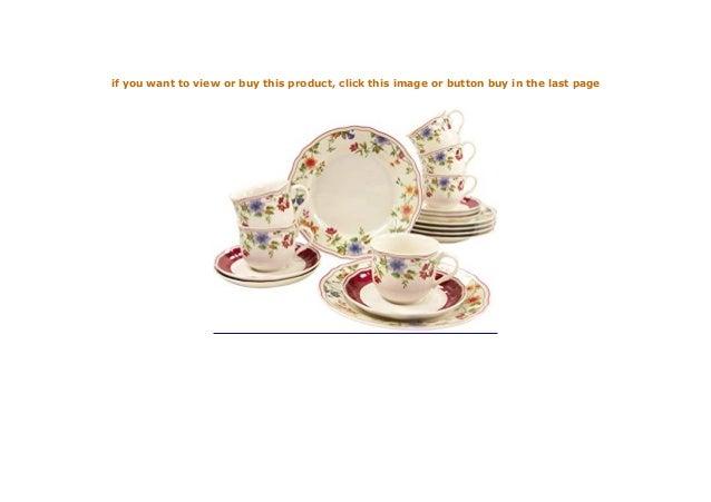 Geschirrset Kaffeeservice 18 teilig Serie Cornwall Garden Creatable 16140