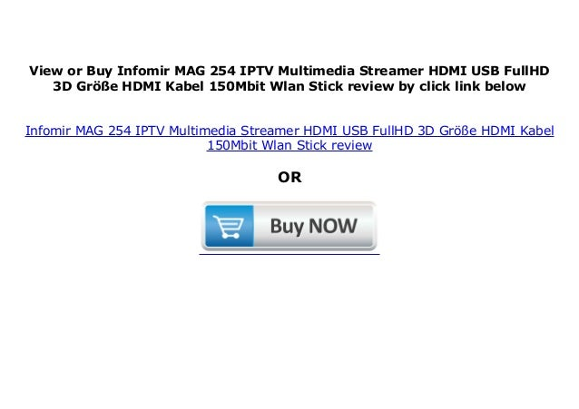 Infomir MAG 254 IPTV Multimedia Streamer HDMI USB FullHD 3D