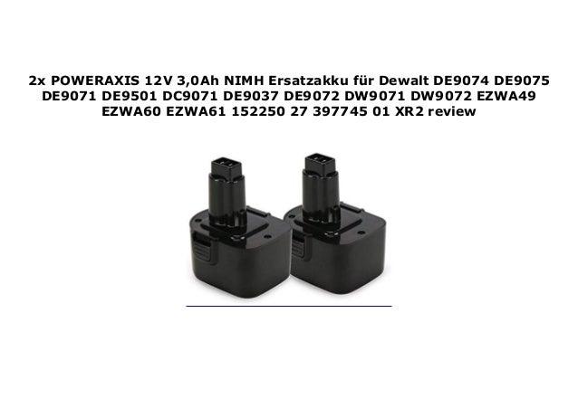 Für Dewalt DC9071 DW9071 12V 2,0AH Ni-MH AKKU DW9072 DE9037 DE9071 DE9072 DE9074