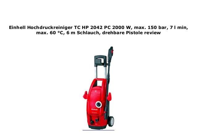 Einhell Hochdruckreiniger Zubeh/ör HPRB 15 passend f/ür Hochdruckreiniger Einhell Hochdruckreiniger TC-HP 2042 PC 2000 W, max. 150 bar, 7 l//min, max. 60 /°C, 6 m Schlauch, drehbare Pistole