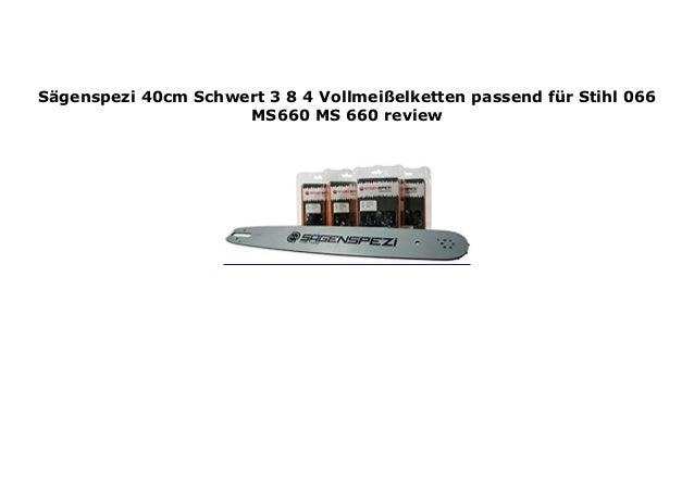 40cm Schwert 3//8 2 Ketten für Stihl 066 MS 660 MS660