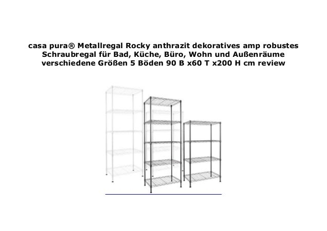 casa pura Metallregal Rocky anthrazit dekoratives amp robustes S…