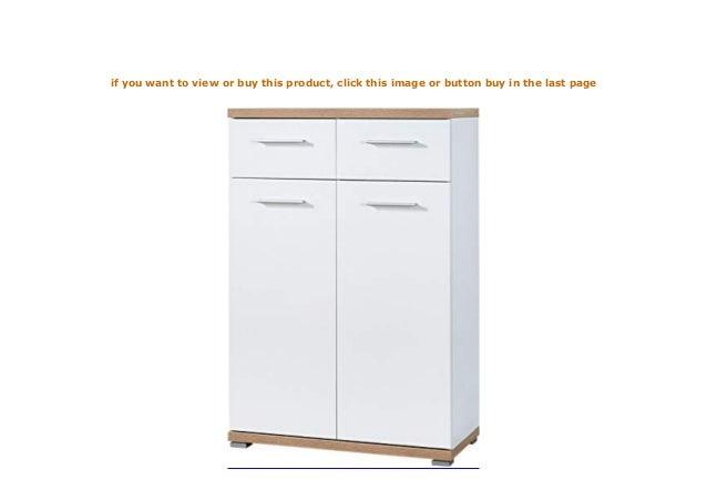 BxHxT Schuhschrank in Weiß//Absetzung Sonoma-Eiche-Nachbildung 74 x 110 x 37 cm