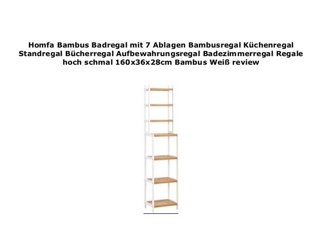 Homfa Bambus Standregal 4 Ablage B/ücherregal Badregal Blumenregal