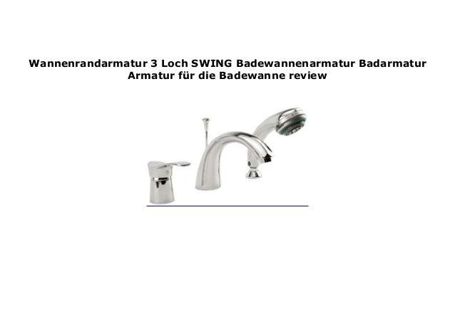 """Edelstahl Einhandmischer Wannenarmatur Badarmatur Wasserhahn Badewanne /""""SWING/"""""""