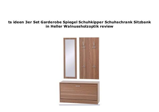 Ts Ideen 3er Set Garderobe Spiegel Schuhkipper Schuhschrank Sitzbank