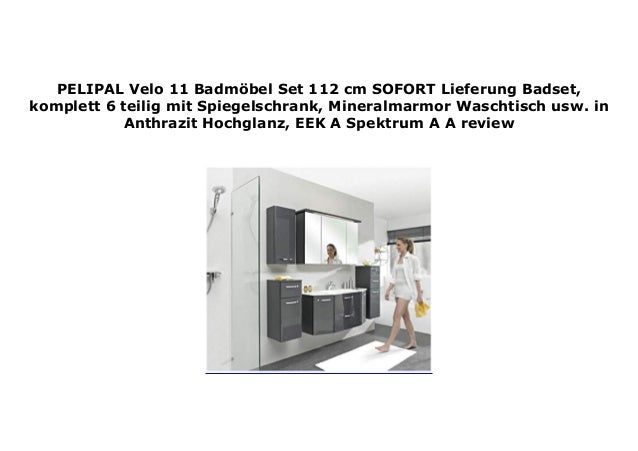PELIPAL Velo 11 Badm bel Set 112 cm SOFORT Lieferung Badset…
