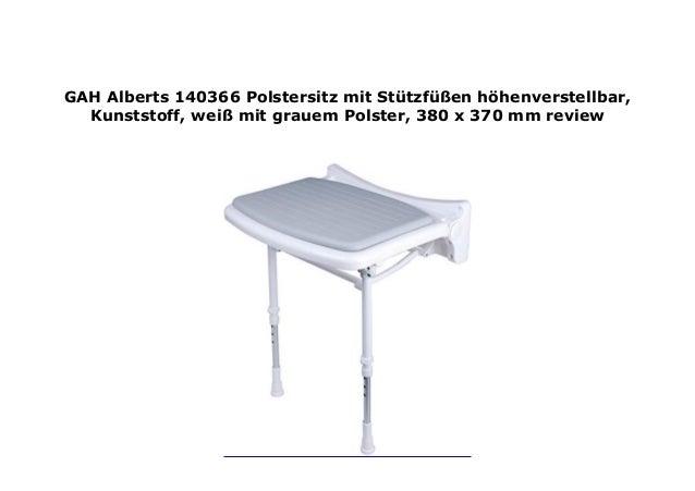 GAH Alberts 140366 Polstersitz mit St tzf en h ...