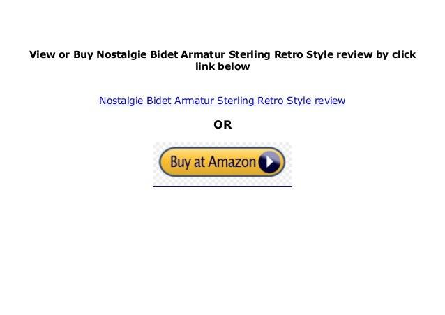 Sterling Nostalgie Bidet Armatur Retro-Style