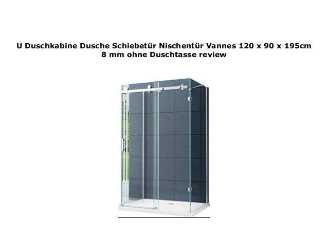 Nischent/ür Schiebet/ür Dusch T/ür Victoria 120 x 195//8 mm//Modernes Schiebet/ür-Rollensystem