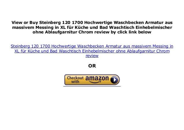 Steinberg 120 1700 Hochwertige Waschbecken Armatur aus ...