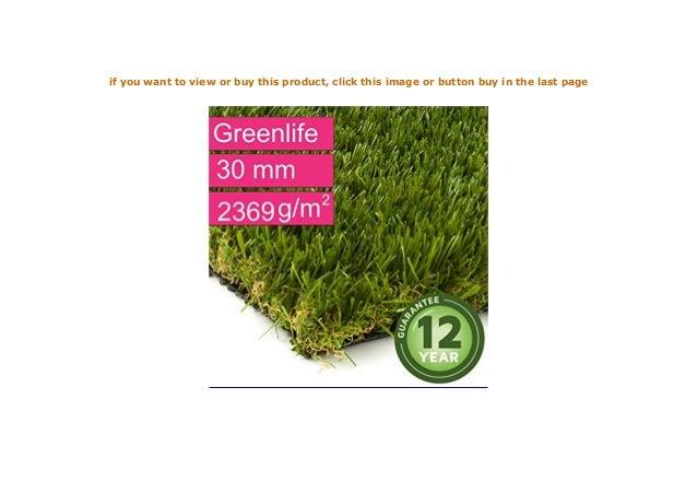 Gewicht ca 2369 g//m/² Kunstrasen Rasenteppich Greenlife f/ür Garten Florh/öhe 30 mm UV-Garantie 12 Jahre Rollrasen DIN 53387 Kunststoffrasen - 4,00 m x 5,00 m