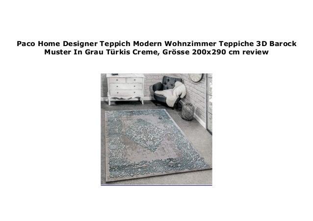Paco Home Designer Teppich Modern Wohnzimmer Teppiche 3D ...