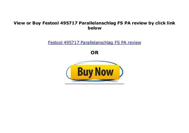 Festool Parallelanschlag FS-PA