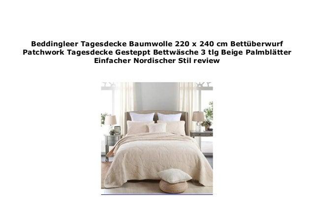 Beddingleer Tagesdecke Baumwolle 220 X 240 Cm Bett Berwurf Patchwork