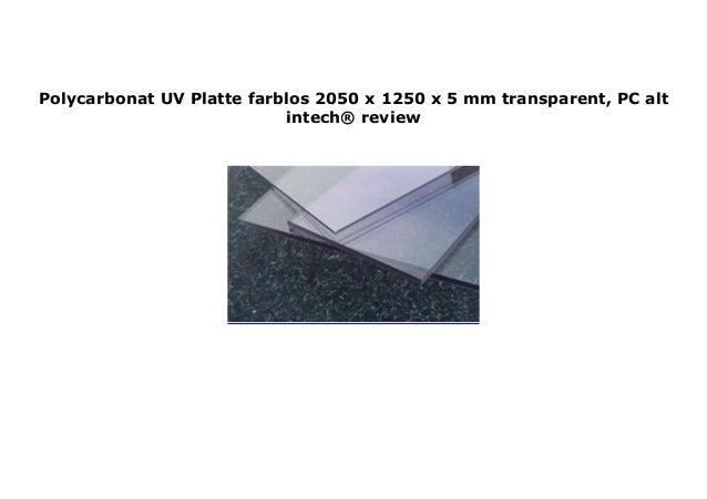 Polycarbonat Platte farblos 2050 x 1250 x 5 mm transparent PC alt-intech/®