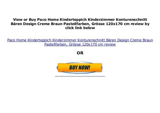 Gr/össe:80x150 cm Paco Home Kinderteppich Kinderzimmer Konturenschnitt B/ären Design Creme Braun Pastellfarben