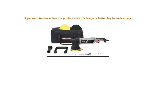 Dino KRAFTPAKET 15mm-950W Exzenter Poliermaschine 12-Stufig mit LCD-Display und Memory-Funktion im Set mit Polierschwamm Polierteller Tasche f/ür Auto KFZ Boot XL-HUB