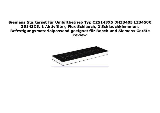 Siemens LZ34500 Starterset f/ür Umluftbetrieb