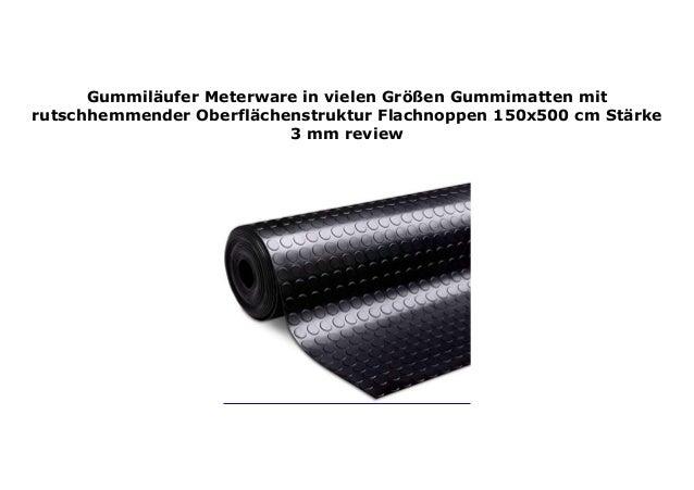 Gummimatten mit rutschhemmender Oberfl/ächenstruktur Meterware in vielen Gr/ö/ßen Schwarz St/ärke: 3 mm Gummil/äufer Feinriefen 180x700 cm