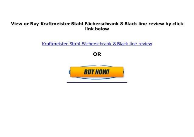 Kraftmeister Stahl-F/ächerschrank 20 Black line