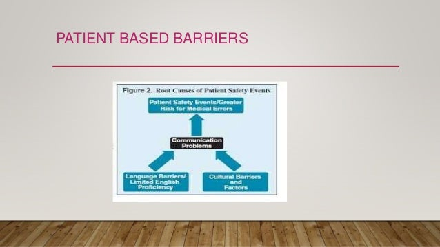 PATIENT BASED BARRIERS