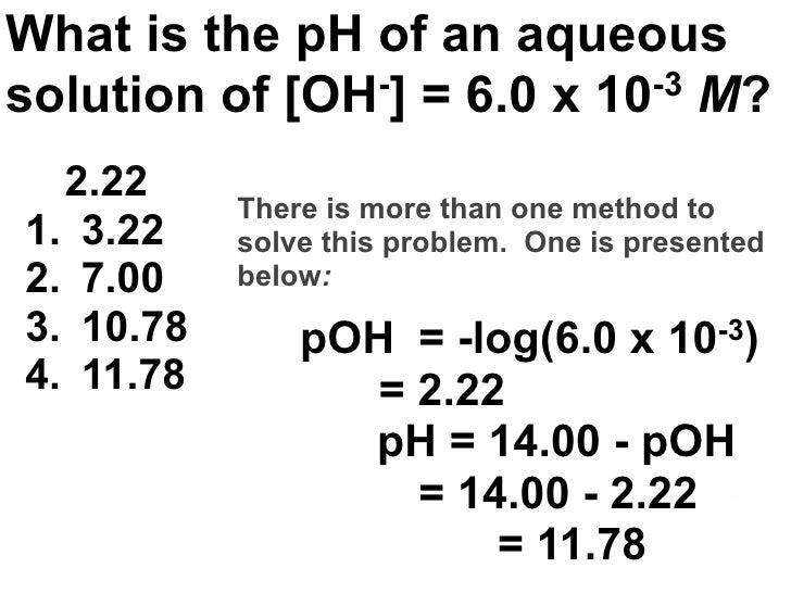 solving acid base equilibrium problems