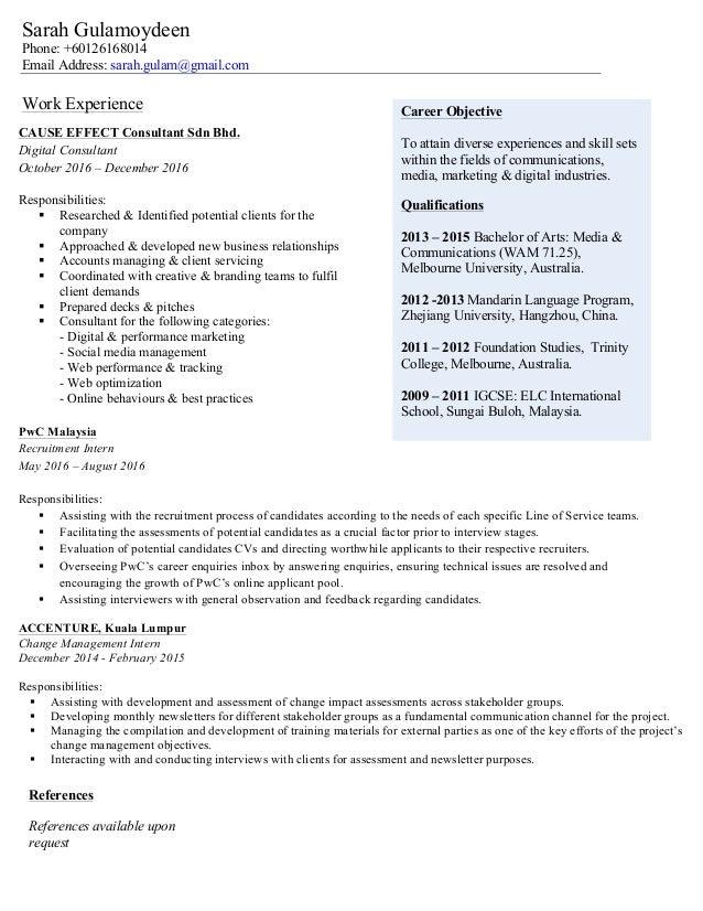 Sarah Gulamoydeen CV Dec 2016 Linkedin