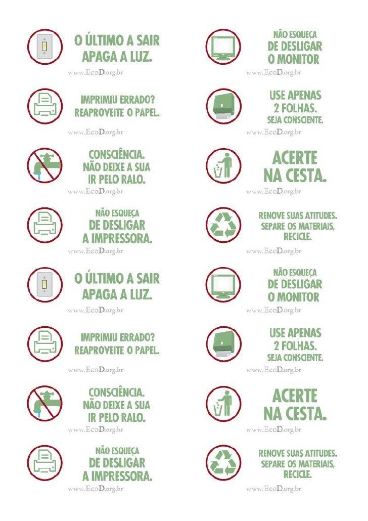 16 adesivos Adesivos para sinalização ecológica, EcoD.