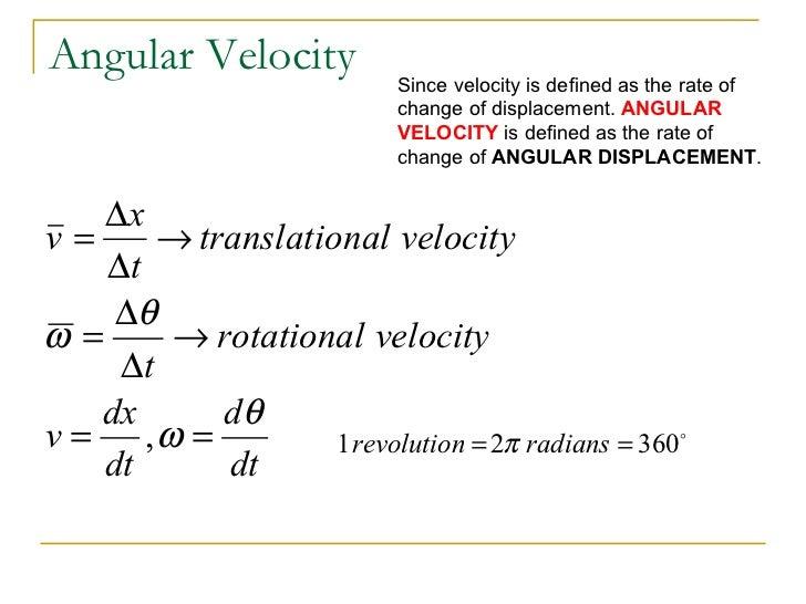 AP Physics C Rotationa... Angular Velocity Equation