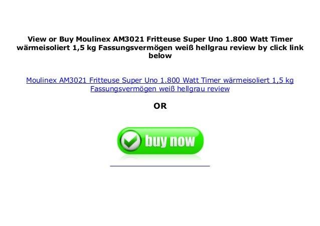 Moulinex AM3021 Fritteuse Super Uno weiß//hellgrau