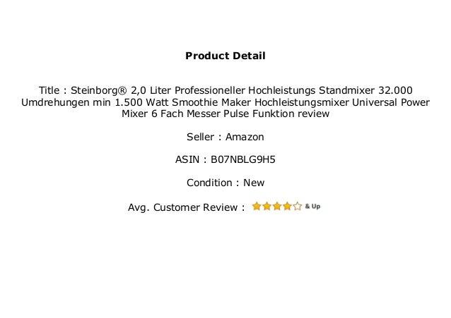 Hochleistungsmixer Standmixer Blender Mixer Smoothiemaker 32000 U Min 1500 W