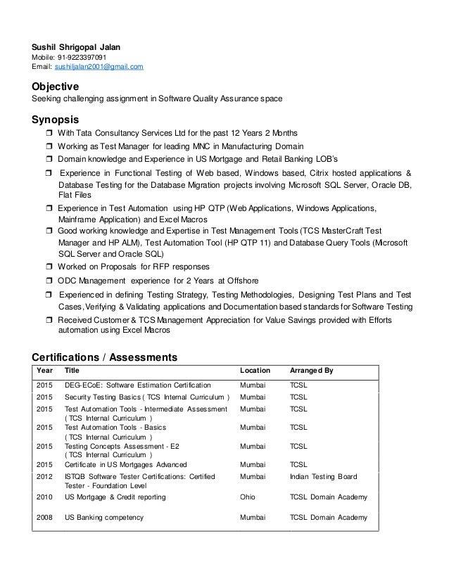 Sushil Shrigopal Jalan Mobile: 91-9223397091 Email: sushiljalan2001@gmail.com Objective Seeking challenging assignment in ...