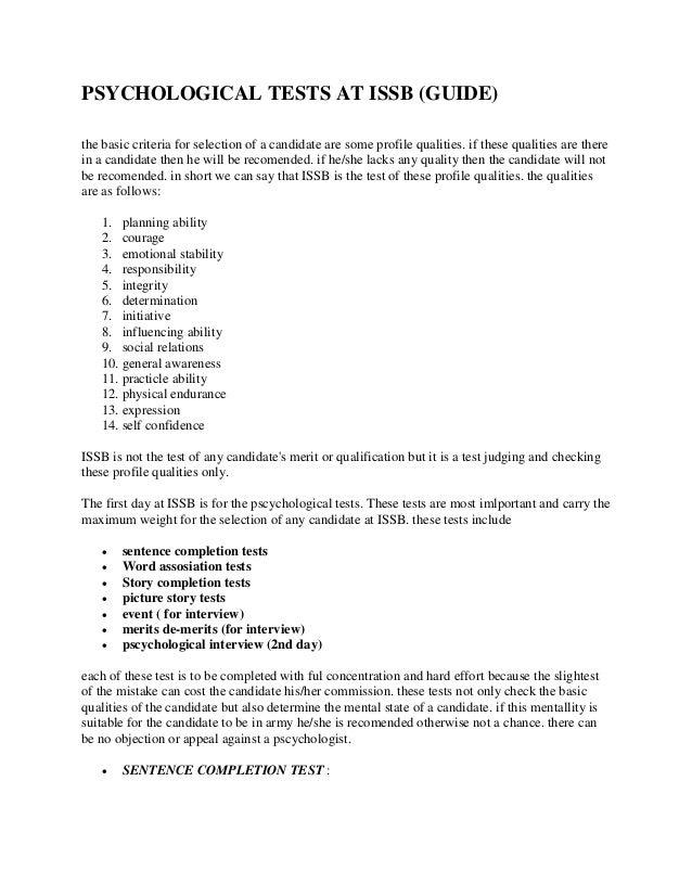 image regarding Printable Personality Tests titled Emotional Checks AT ISSB