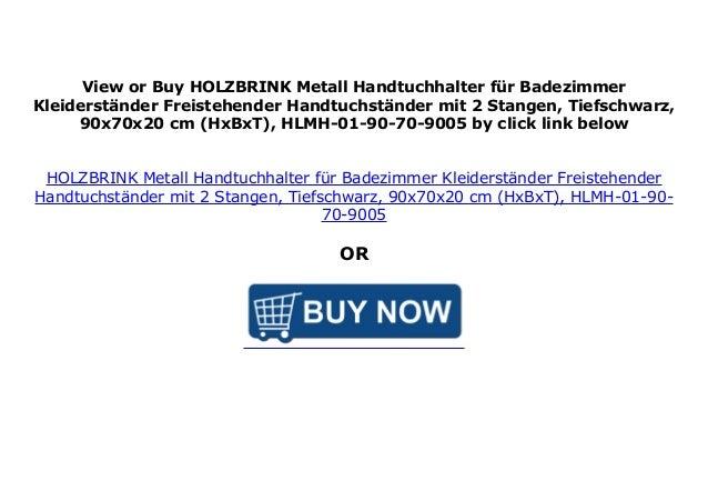 HOLZBRINK Metall Handtuchhalter f/ür Badezimmer Kleiderst/änder Freistehender Handtuchst/änder mit 2 Stangen Verkehrsweiss HLMH-01-86-65-9016 HxBxT 86x65x20 cm