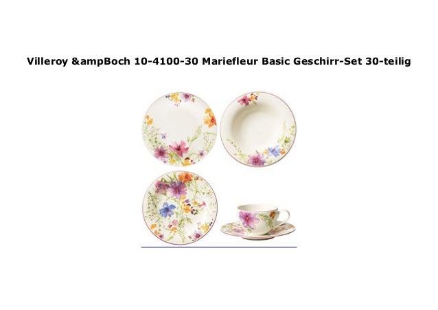 Villeroy /& Boch 10-4100-30 Mariefleur Basic Geschirr-Set 30-teilig