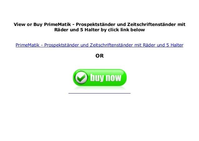 PrimeMatik Prospektst/änder und Zeitschriftenst/änder mit R/äder und 3 Halter