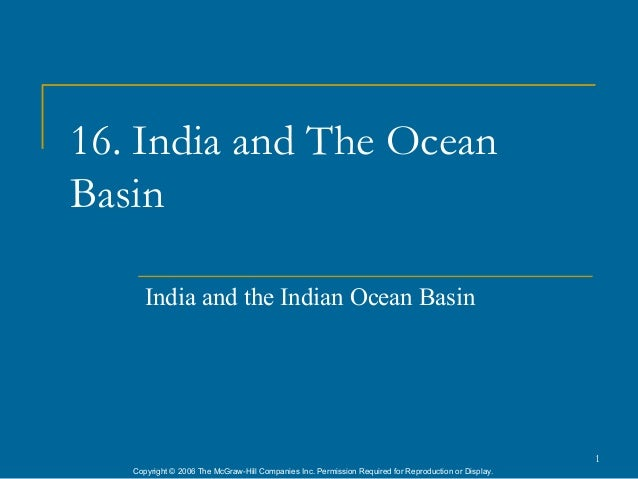16. India and The OceanBasin      India and the Indian Ocean Basin                                                        ...